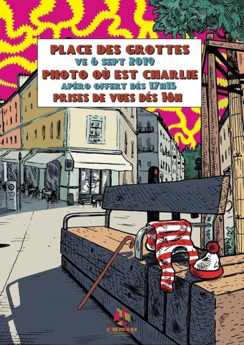 Manu & Patrice, vendredi 6 septembre 2019 Place des Grottes à Genève. On cherche, ou est Charlie?