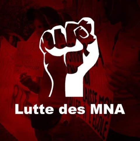 Occupation du Grütli par le collectif de lutte de MNA