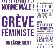 Tournée des stands de la grève féministe du 14 juin 2020