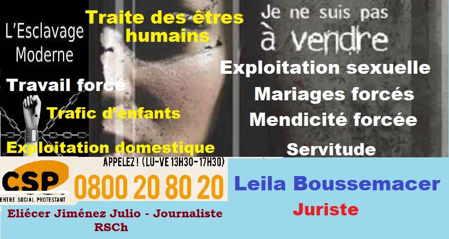 En Suisse, Il y a des victimes d'esclavage moderne !
